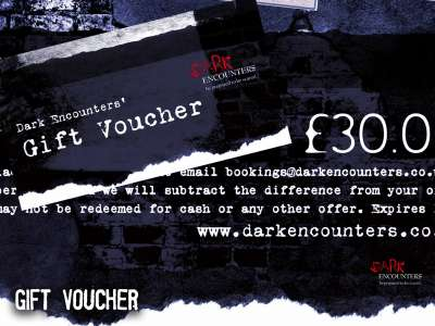 Gift Voucher Experiences from Dark Encounters